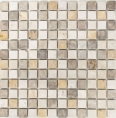 Mosaik Fliese Travertin Naturstein beige braun Travertin tumbled MOS43-46380
