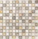 Mosaik Fliese Travertin Naturstein beige braun goldbraun mix Fliesenspiegel Duschtasse Duschwand Küche - MOS43-46380