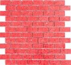 Mosaik Fliese Quarz Komposit Kunststein Brick Artificial rot MOS46-ASMB4_f