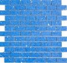 Mosaik Fliese Quarz Komposit Kunststein Brick Artificial blau MOS46-ASMB5