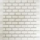 Mosaik Fliese Quarz Komposit Kunststein Brick Artifical weiß MOS46-0104_f
