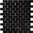 Mosaik Fliese Quarz Komposit Kunststein Brick Artifical schwarz MOS46-0304
