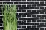 Mosaik Fliese Quarz Komposit Kunststein Brick Artifical schwarz MOS46-0304_m