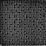 Mosaik Fliese ECO Recycling GLAS Enamel schwarz matt Glas MOS140-01B_f | 10 Mosaikmatten