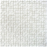 Mosaik Fliese ECO Recycling GLAS Enamel weiß matt Glas MOS140-07W_f | 10 Mosaikmatten