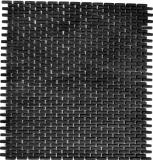 Mosaik Fliese ECO Recycling GLAS Brick Enamel schwarz matt MOS140-B21B_f | 10 Mosaikmatten