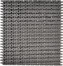 Mosaik Fliese ECO Recycling GLAS Brick Enamel graubraun matt MOS140-B25G