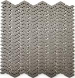 Mosaik Fliese ECO Recycling GLAS Fischgrät Enamel cream matt MOS140-HB33C_f | 10 Mosaikmatten