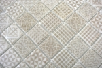 Retro Vintage Mosaik Fliese ECO Recycling GLAS ECO beige patchwork MOS145-P-50_m