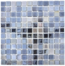 Mosaik Fliese ECO Recycling GLAS ECO anthrazit metallic MOS350-08