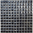 Mosaik Fliese ECO Recycling GLAS ECO schwarz metallic 3DF MOS350-28