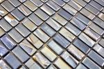 Mosaikfliese ECO Recycling GLAS Rechteck ECO schwarz metallic 3D MOS355-09_m