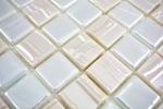 Mosaikfliese ECO Recycling GLAS ECO weiß metallic 3D MOS355-11_m