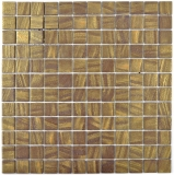 Mosaikfliese ECO Recycling GLAS ECO satin gold MOS360-05