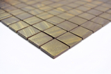 Mosaikfliese ECO Recycling GLAS ECO satin gold MOS360-05_f | 10 Mosaikmatten
