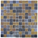 Mosaikfliese ECO Recycling GLAS ECO schwarz anthrazit satin gold bronze oxide MOS360-357