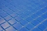 Mosaikfliese Glas dunkelblau Wandfliesen Badfliese Duschrückwand Fliesenspiegel  MOS200-A15-N_m