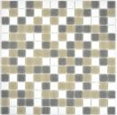 Mosaik Fliese Glas weiß grau braun MOS210-P001624