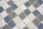 Mosaikfliese Glas weiß grau metallic Wandfliesen Badfliese Duschrückwand Fliesenspiegel MOS210-P001625_m