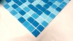 Schwimmbad Mosaik  PoolMosaikfliese Glas hellblau blau papierverklebt MOS52-0402_Papier_m