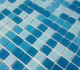 Schwimmbad Mosaik  PoolMosaikfliese Glas hellblau blau papierverklebt MOS52-0402_Papier