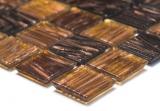 Mosaikfliese Glas Goldstar braun Wandfliesen Badfliese Duschrückwand Fliesenspiegel MOS54-1306_m
