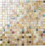 Mosaikfliese Glas sandfarbend Wandfliesen Badfliese Duschrückwand Fliesenspiegel MOS58-1204