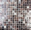 Mosaik Fliese Glas Goldensilk dunkelgrau MOS54-0108