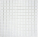 Mosaikfliese Transluzent Glasmosaik Crystal superweiß BAD WC Küche WAND MOS63-0101