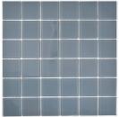 Mosaikfliese Transluzent Glasmosaik Crystal grau BAD WC Küche WAND MOS69-0202