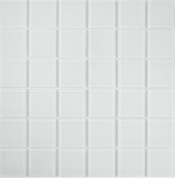 Mosaikfliese Transluzent Glasmosaik Crystal superweiß BAD WC Küche WAND MOS69-0101