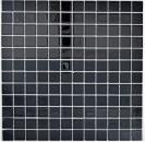 Mosaikfliese Transluzent Glasmosaik Crystal schwarz BAD WC Küche WAND MOS63-0302