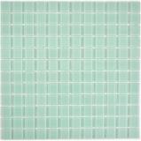 Mosaikfliese Transluzent Glasmosaik Crystal hellgrün BAD WC Küche WAND MOS63-0107