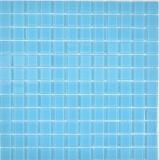 Mosaikfliese Transluzent Glasmosaik Crystal hellblau BAD WC Küche WAND MOS63-0402