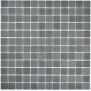 Mosaikfliese Transluzent Glasmosaik Crystal anthrazit grau graumatt MOS63-2602
