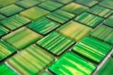 Mosaikfliese Transluzent Glasmosaik Crystal Struktur grün klar gefrostet MOS68-CF43_m
