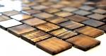 Mosaik Fliese Transluzent Glasmosaik Crystal Struktur braun klar gefrostet MOS68-CF45