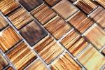 Mosaikfliese Transluzent Glasmosaik Crystal Struktur braun klar gefrostet MOS68-CF45_m