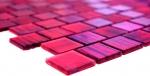 Mosaikfliese Transluzent Glasmosaik Crystal Struktur pink klar gefrostet MOS68-CF47_f | 10 Mosaikmatten