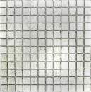 Mosaik Fliese Transluzent Glasmosaik Crystal silber Struktur MOS123-8SB16