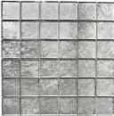 Mosaik Fliese Transluzent Glasmosaik Crystal silber Struktur MOS123-8SB26