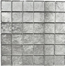 Mosaikfliese Transluzent Glasmosaik Crystal silber Struktur MOS123-8SB26