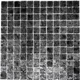 Mosaikfliese Transluzent Glasmosaik Crystal schwarz Struktur MOS63-CM-4BL12