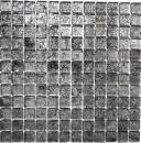 Mosaikfliese Transluzent Glasmosaik Crystal schwarz Struktur MOS126-8BL17