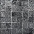 Mosaikfliese Transluzent Glasmosaik Crystal schwarz Struktur MOS126-8BL27