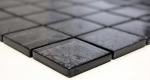 Mosaikfliese Transluzent Glasmosaik Crystal schwarz Struktur MOS126-8BL27_m