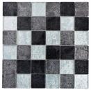 Mosaik Fliese Transluzent schwarz Glasmosaik Crystal silber schwarz Struktur MOS126-1704
