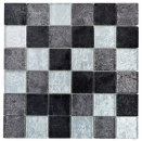 Mosaik Fliese Transluzent schwarz Glasmosaik Crystal silber schwarz Struktur MOS126-1784