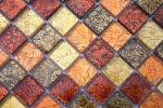 Mosaikfliese Transluzent Glasmosaik Crystal gold orange Struktur MOS120-07414_m