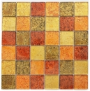 Mosaik Rückwand Transluzent Glasmosaik Crystal gold orange Struktur MOS120-07424_f